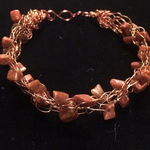 Hand made wire wrapped bracelet